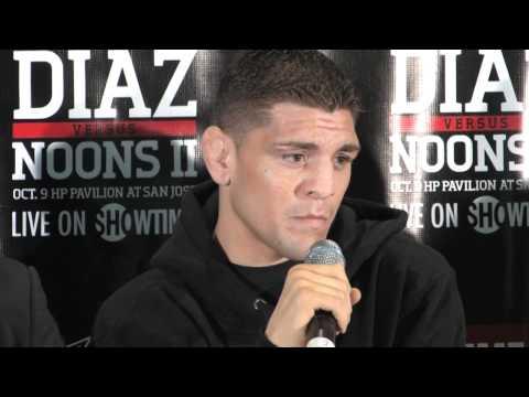 Nick Diaz vs KJ Noons Press Conference Highlights Pre Fight