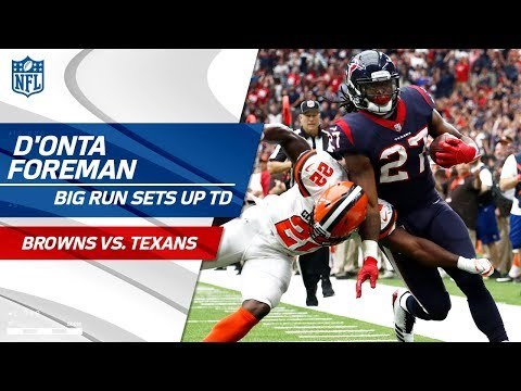 Video: D'Onta Foreman's Massive Run Sets Up Braxton Miller's Front Flip TD! | Browns vs. Texans | NFL Wk 6