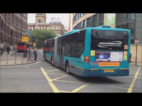(HD) Buses In Liverpool Queen Square Bus Station