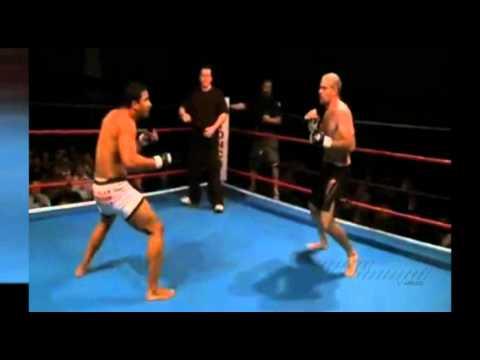 Marcus Aurélio nocauteando adversários no MMA com golpes de capoeira (видео)