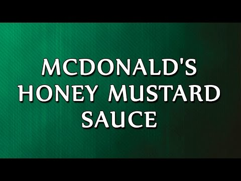McDonald's Honey Mustard Sauce | RECIPES | EASY TO LEARN