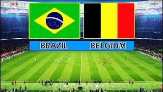 PES 2018 | BRAZIL vs BELGIUM | Full Match & Amazing Goals | Neymar vs Hazard | Gameplay PC