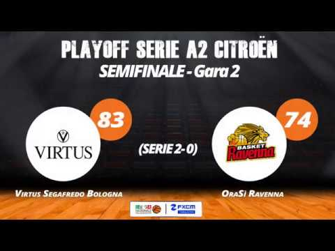 A2 Playoff – Semifinali Gara2, gli highlights di Virtus-Ravenna