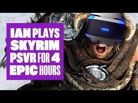 Let's Play Skyrim VR - Epic 4 hour Skyrim PSVR stream! (видео)
