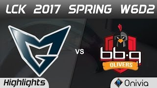 SSG vs BBQ Highlights Game 2 LCK Spring 2017 W6D2 Samsung vs BBQ Olivers
