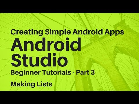 Android Studio For Beginners Part 3