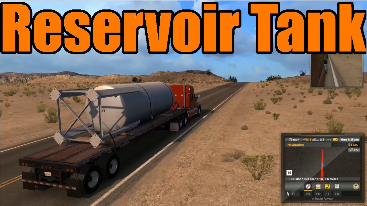 American Truck Simulator - Reservoir Tank Delivery