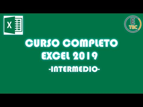 CURSO EXCEL 2019 - INTERMEDIO