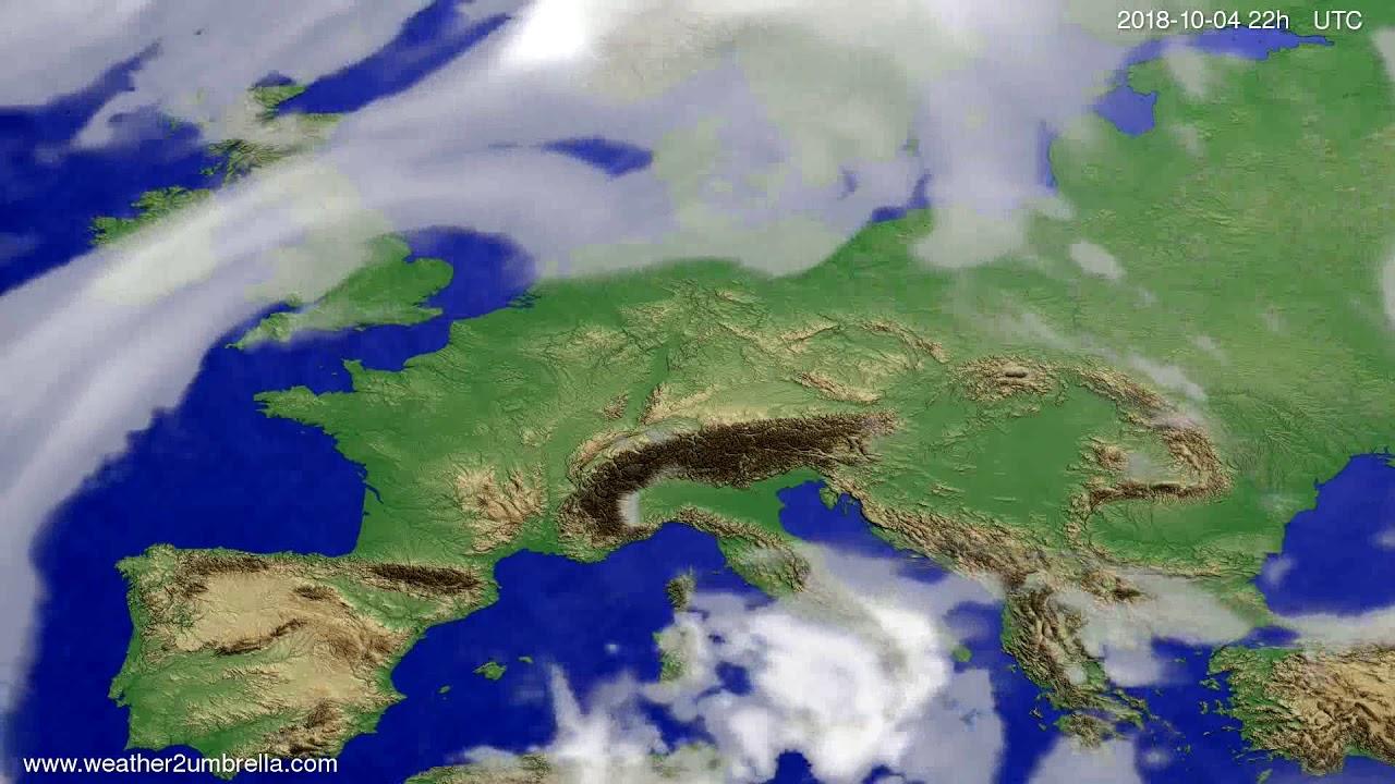 Cloud forecast Europe 2018-10-02
