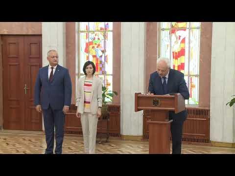 Vasile Șova a depus jurămîntul în calitate de Viceprim-ministru pentru Reintegrare