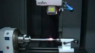 Hardening of steel axles using lasers