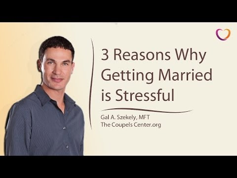 Pre Marriage Counseling: Why Getting Married Is Stressful