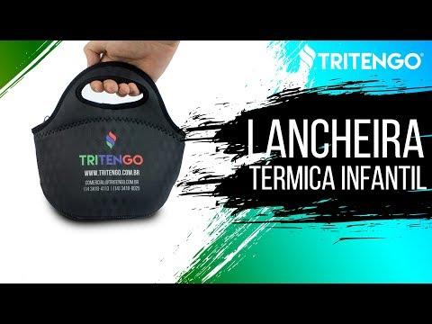 Lancheira Térmica Infantil em Neoprene Personalizada para Brinde