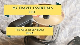 My 6 Travel Essentials While Travelling In India Or Abroad| Wiseshe Makeup