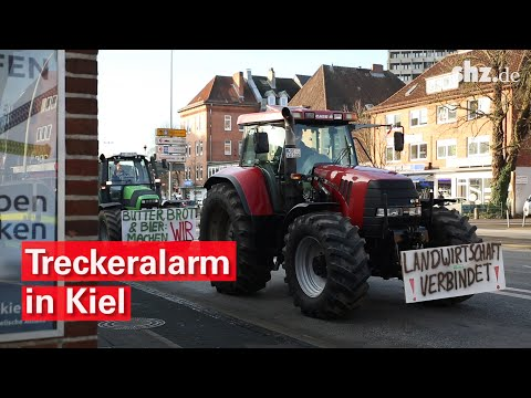 Kiel: Trecker Protest - 1.000 Bauern demonstrieren in ...