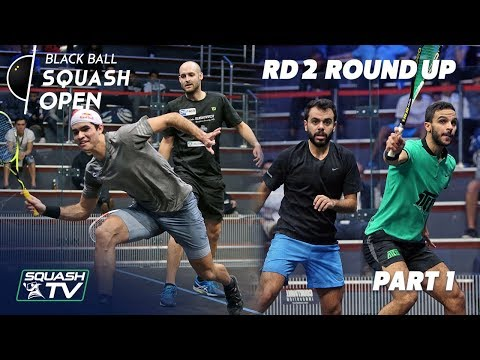 Squash: CIB Black Ball Squash Open 2018 - Rd 2 Roundup P1