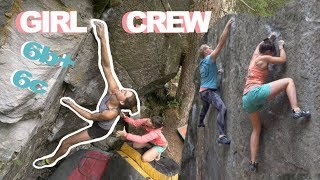 Magic Woods DabRat Girl Crew by Bouldering DabRats
