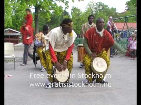 African Drumming & Dancing with Urkraft, Live at Parkleken Blacken, Blackeberg, Stockholm