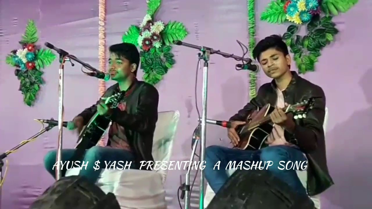 Mashup of bollywood song's on guitar unplugged version