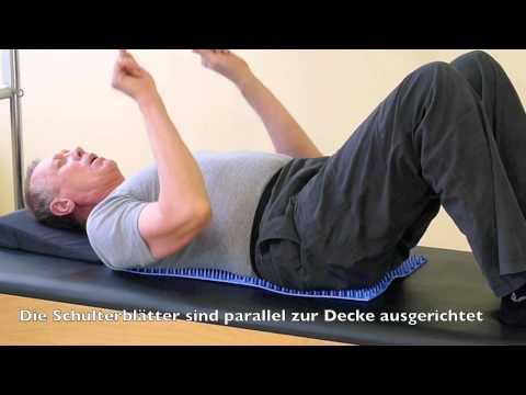 Übungen mit der Akupressurmatte für den Rücken - Rückentraining (1)