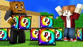 SPIRAL RAINBOW LUCKY BLOCK MOD Tiny House Challenge   Minecraft - Lucky Block Mod