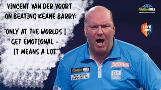 "Vincent van der Voort on beating Keane Barry: ""Only at the Worlds I get emotional – it means a lot"""