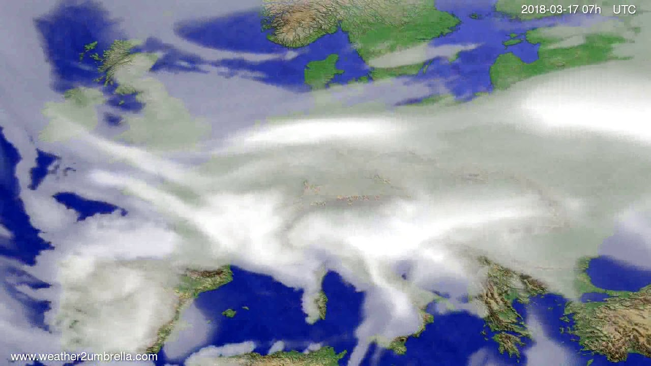 Cloud forecast Europe 2018-03-13