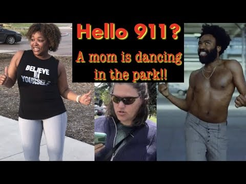Mom Dances to This is America in the park