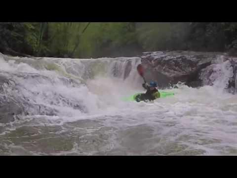 Kayaking Upper Glade Creek in West Virginia Video