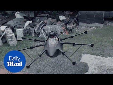 Näppärä drone joka kantaa ihmisen