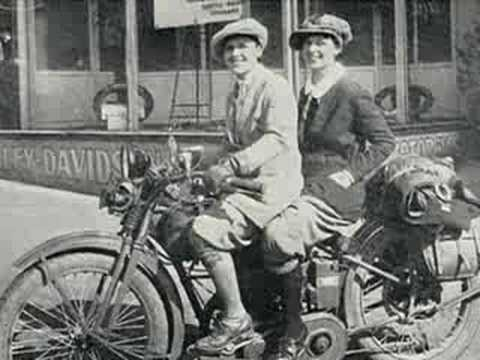 bikerbabes - pic slideshow of antique motorcycles and the women who rode them. set to a natasha bedingfield song.