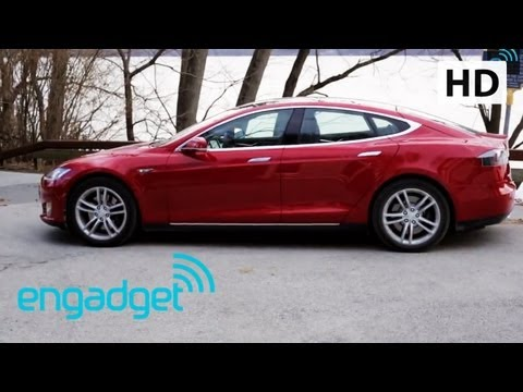 Tesla Model S review door Engadget