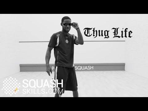 Squash trick shots: Jamal Callender