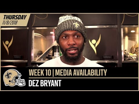 Dez Bryant: 'Who wouldn't want to play with Drew Brees?' | Week 10 Post-Practice