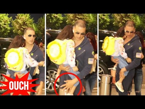 Akshay Kumar Almost FALLS With Daughter Nitara SAV