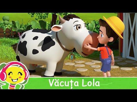 Vacuta Lola + karaoke 🐮 Cantece pentru copii | CanteceGradinita