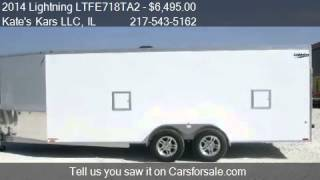 8. 2014 Lightning LTFE718TA2 Aluminum Snow trailer - for sale i