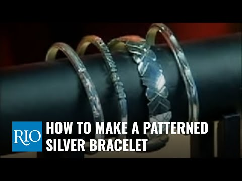 How To Make A Patterned Silver Bracelet