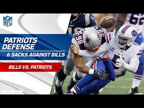 Video: New England Defense Stuffs Buffalo w/ 6 Sacks! | Bills vs. Patriots | Wk 16 Player Highlights