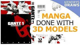 Manga done with 3d models - GANTZ