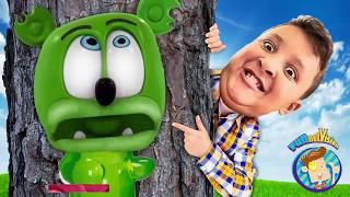 GUMMY VS  REAL LIFE HIDE & SEEK GAME   FV Skit