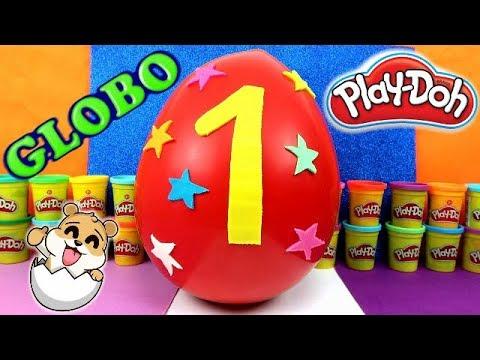 Globo sorpresa gigante nº1 de plastilina Play Doh en Español - Con Eva y Lina