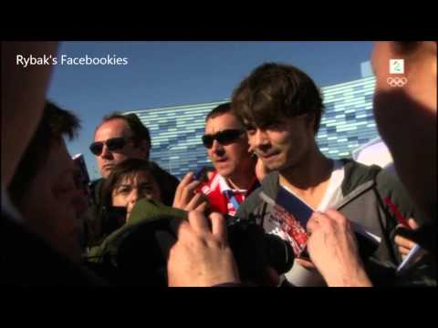 Alexander Rybak - Working as Russian translator - Senkveld Sochi 13.02.2014 (видео)