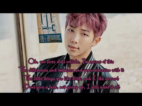 Duet With Namjoon / RM (Karaoke) - Fools (Troye Sivan) Instrumental + Lyrics