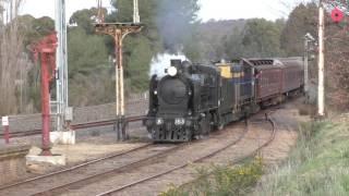 Castlemaine Australia  City pictures : Australian Branch Line Steam Trains at Castlemaine