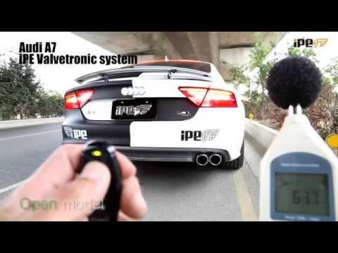 アウディ A7 4G 3.0T スポーツバック 用 iPE 可変バルブマフラー