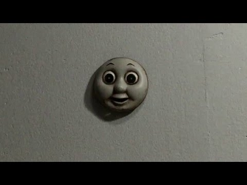 Thomas the Tank Engine  s Face Disturbingly Crawls on Walls and Ceilings With Green Glowing