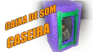 Construa sua mini caixa de som com papelão e aquele alto falante que está sem uso, de forma fácil e muito prática.