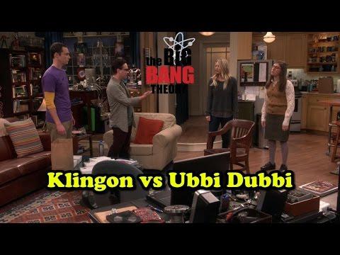 Klingon vs Ubbi Dubbi - The Big Bang Theory Season 10 Episode 7