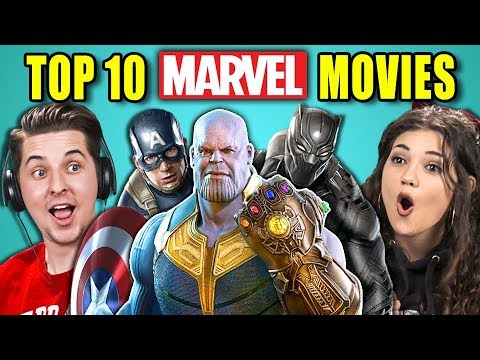 COLLEGE KIDS REACT TO TOP 10 MARVEL MOVIES OF ALL TIME (видео)